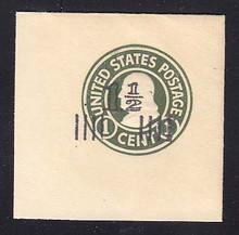 U515a 1 1/2c on 1c Green on White, die 2, Mint Full Corner, 50 x 50