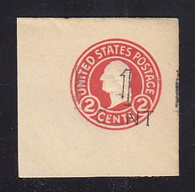 UPSS # 3041 1c Postal Card Surcharge on 2c Carmine, die 7, Mint Full Corner, 47 x 47