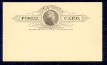 UX9 UPSS# S8 1c Thomas Jefferson, Black on Buff Mint Postal Card