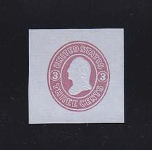 U36 3c Pink on Blue, Mint Cut Square, 36 x 36