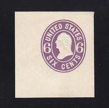 U64 6c Purple on White, Mint Full Corner, 42 x 43