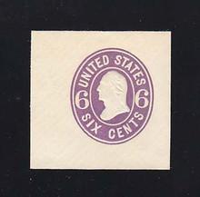 U64 6c Purple on White, Mint Cut Square, 40 x 40