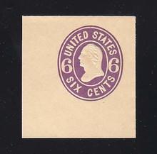 U65 6c Purple on Buff, Mint Full Corner, 42 x 43