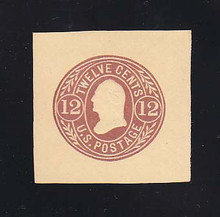 U69 12c Red Brown on Buff, Mint Cut Square, 40 x 40