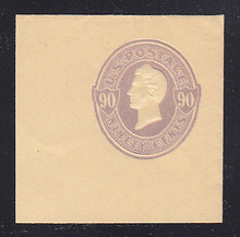 U346 90c Purple on Manila, Mint Cut Square, 50 x 50