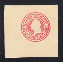 U429 2c Carmine on White, die , Mint Full Corner, Missing E in POSTAGE