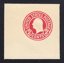 U429a 2c Carmine on White, die 2, Mint Full Corner, 50 x 50