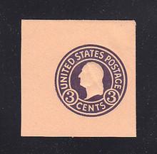 U438c 3c Dark Violet on Oriental Buff, die 7, Mint Cut Square