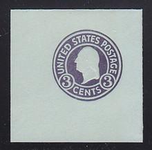 U439a 3c Dark Violet on Blue, die 1, Mint Full Corner, 50 x 50