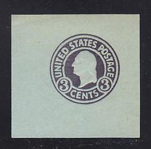 U439a 3c Dark Violet on Blue, die 1, Mint Cut Square, 47 x 47