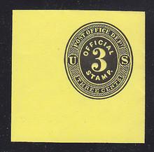 UO2 3c Black on Lemon Mint Cut Square, 50 x 50