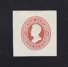 UO19 2c Dark Red on White, Mint Full Corner, 36 x 38