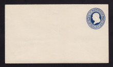 U108 UPSS # 254/T11 1c Dark Blue on White, die 1, Mint Entire