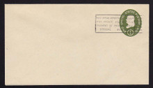 U532a UPSS# 3282-43 1c Green, die 2, Mint Entire, Penalty Overprint