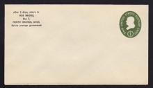 U532b UPSS# 3290-43 1c Green, die 3, Mint Entire