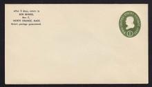 U532b UPSS# 3290a-45 1c Green, die 3, Mint Entire