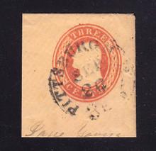 U4 3c Red on Buff, die 2, Used Full Corner, 41 x 45