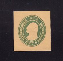 U14 6c Green on Buff, Mint Cut Square, 34 x 36