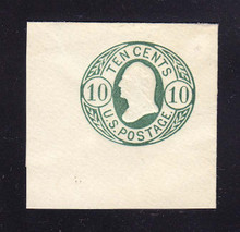 U40a 10c Blue Green on White, Mint Full Corner, 45 x 43