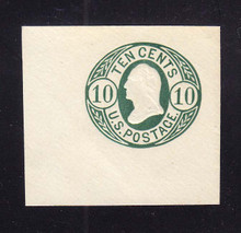 U40a 10c Blue Green on White, Mint Cut Square, 45 x 42