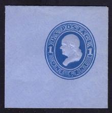 U117 1c Light Blue on Blue, die 2, Mint Full Corner, 50 x 50
