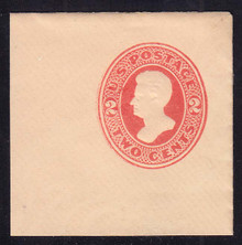 U144 2c Vermillion on Cream, die 5, Mint Full Corner, 50 x 50