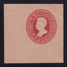 U152 2c Vermillion on Fawn, die 6, Mint Cut Square, 47 x 47