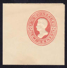 U153 2c Vermillion on White, die 7, Mint Full Corner, 50 x 50