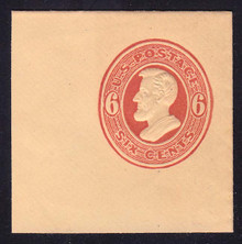 U183 6c Red on Cream, Mint Full Corner, 50 x 50