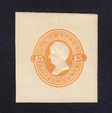 U198 15c Orange on White, Mint Cut Square, 40 x 43