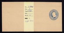 W112, UPSS #261 1c Light Blue on Manila, die 1, Mint Wrapper