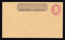 U35 UPSS # 77 3c Pink on Buff, Mint Entire, Wells Fargo Imprint