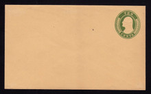 U18 UPSS # 28 10c Green on Buff, Mint Entire, Tone Strip on back