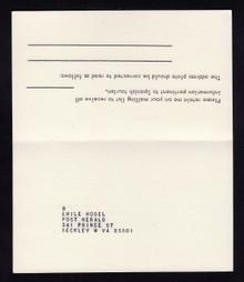 UY24b UPSS# MR34ba 8c Samuel Adams Unused FOLDED, Printed 1 Side only, 3 Reported