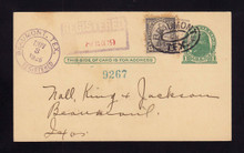 UX27 UPSS# S37Aa 1c Postal Card, REGISTERED to Texas 1926 with 15c 1922 Issue