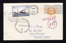 UX75 UPSS# S92 10c to FALKLAND ISLANDS Postage Due