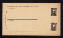 UPSS # MR1E-GBc Brooks Essay Paid Reply Card, Black