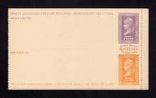 UPSS # MR1E-Pa Brooks Essay Paid Reply Card, Violet/Orange on Buff