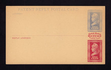 UPSS # MR1E-MBa Brooks Essay Paid Reply Card, Blue/ Red on Buff