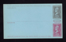 UPSS # MR1E-Nf Brooks Essay Paid Reply Card, Slate/Red on Blue