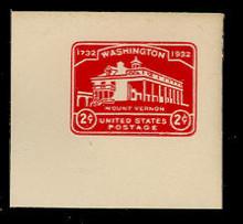 U525 2c Mount Vernon, Carmine, Mint Full Corner