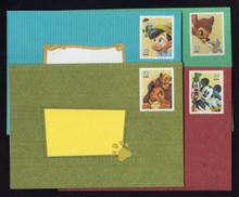 U653-656 37c Disney Letter Sheets, Folded