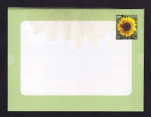 U665 42c Sunflower Letter Sheet, Folded