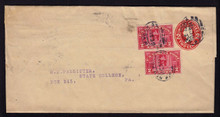 W415 Used NY to PA w/2 2c Q2 Parcel Post Issues