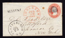 "U9 UPSS# 13 RARE Size, Middletown, CT ""MISSENT"" to Plattsburh"