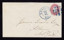 U34 UPSS# 70 Chicago, IL 1864 Fancy Blue Cancel