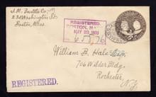 U351 UPSS# 1179 1903 Boston, MA Registered to NY, Unusual DIV Cancel