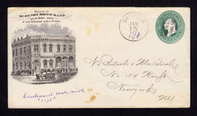 U163 UPSS# 396-3 Denison, IA Bank Adv, Unusual with Adv on this Watermark
