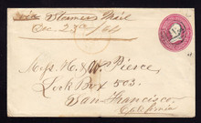 U34 Maine to California, Via STEAMER 1864