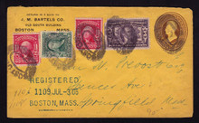 U80 J.M. Bartels Printed CC, Registered Boston, MA 1906